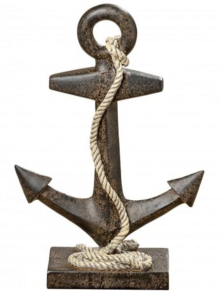 Deko-Anker, Höhe 31 cm, Farbe: metall-braun